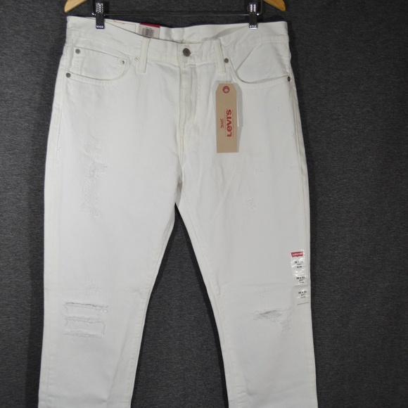 23aa5a6e620 Levi's Jeans | Levis 511 Mens Slim Distressed Ripped White Jean ...